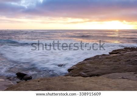 La Jolla Sunset - stock photo
