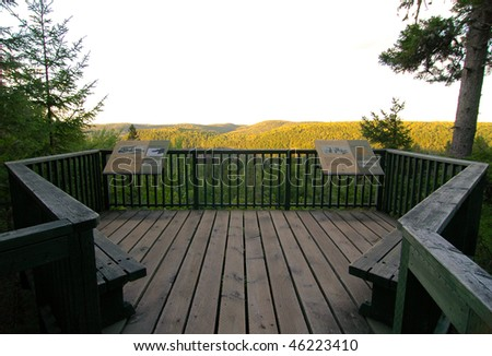 La Mauricie National Park forest overlook