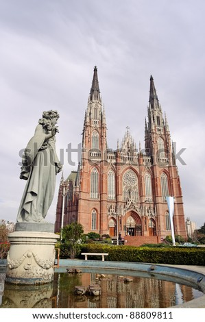 La Plata city Cathedral, Buenos Aires province, Argentina - stock photo