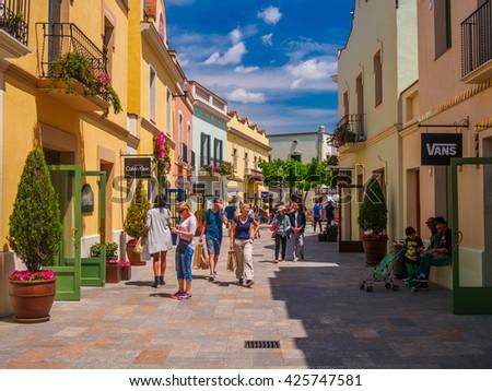 la roca village barcelona catalonia spain may people shopping mall