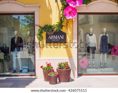 la roca village granollers barcelona catalonia spain may armani