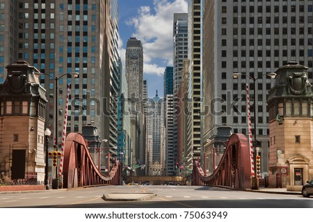La Salle street, Chicago, Illinois, USA. - stock photo