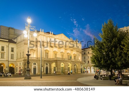 La Scala is an opera house in Milan, Italy. The theatre was inaugurated on 3 August 1778