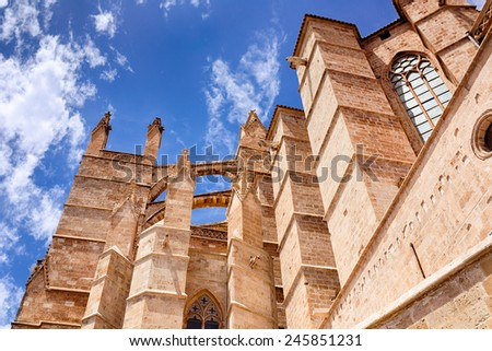La seu Cathedral, The Balearic Islands, Spain - stock photo