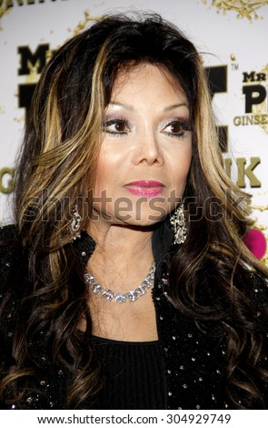 La Toya Jackson at the Mr. Pink Ginseng Drink Launch Party held at the Regent Beverly Wilshire Hotel in Beverly Hills, USA on October 11, 2012.