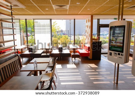 Mcdonalds Interior Design fast food restaurant interior stock images, royalty-free images
