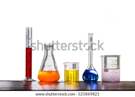 Lab Equipment Isolated by White Background