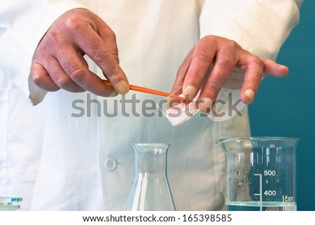 Lab Experiment Image - stock photo