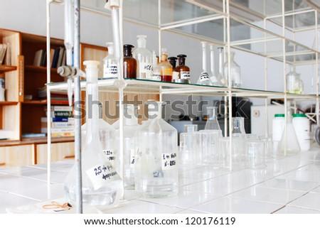 Lab interior - stock photo