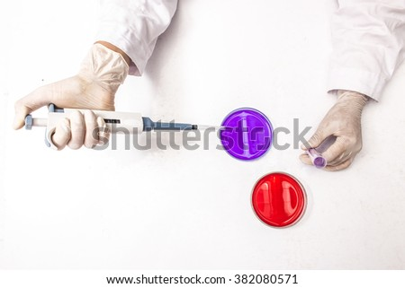 Lab, researcher, research.  - stock photo