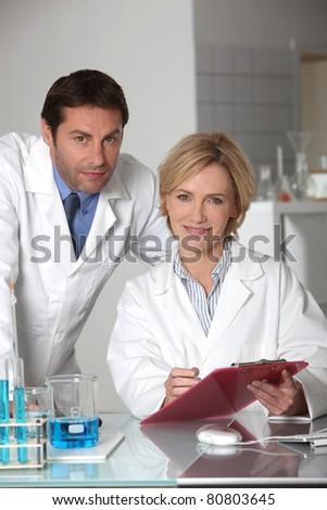 Lab technicians - stock photo