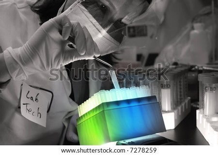 Lab Worker - stock photo