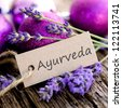 Label, Ayurveda - stock photo
