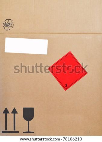 label box - stock photo