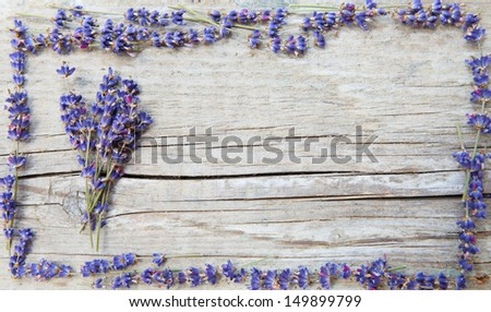 Label for lavender products - stock photo
