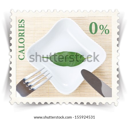 Label for various healthy nutrition diet products advertisements stylized as vintage post stamp - landscape view  - stock photo