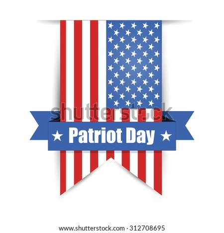 Label hanging on the wall to day of patriot - stock photo