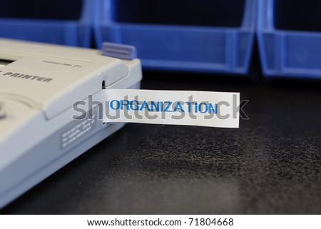 Label maker machine with various labels for organization