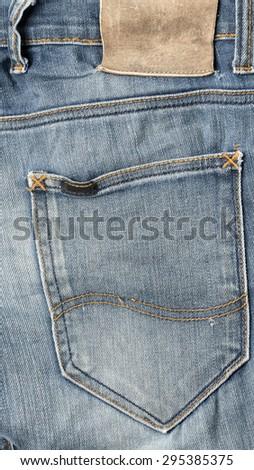 label on jean pants - stock photo