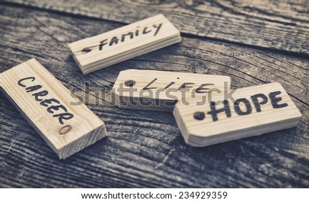 Label. Photo conceptual  - stock photo