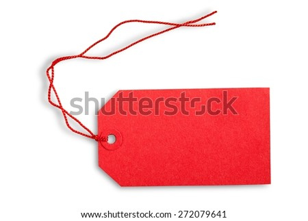 Label, Price Tag, Gift Tag. - stock photo