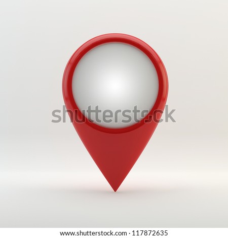 Label  Round 3D here.  there pointer - button (call to action) - stock photo