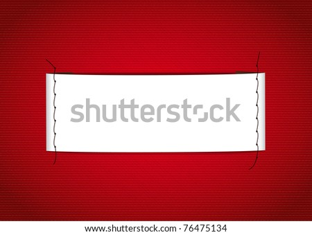 Label seams - stock photo