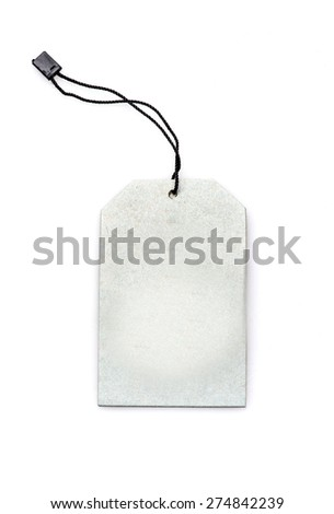 label tag isolated on white background - stock photo