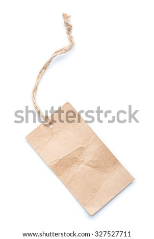 label tag isolated on white background. - stock photo