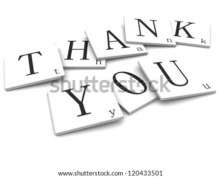 Label Thank You - stock photo