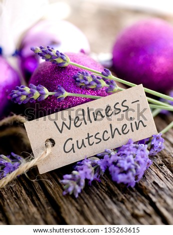 Label with german tex: Wellness coupon