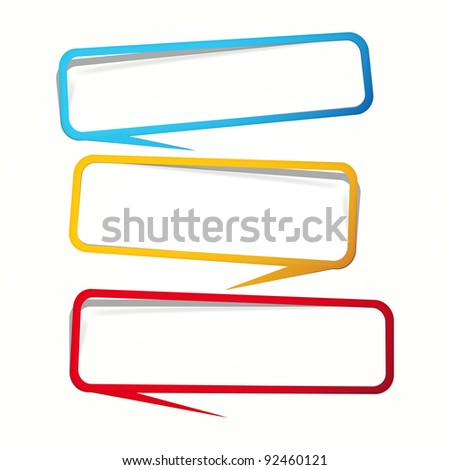 Labels in the form of an empty frame for your text. - stock photo