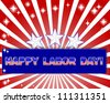 Labor Day. Celebratory background with a beautiful text on the banner. Raster version. - stock photo