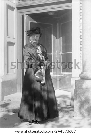 Labor Union activist, Mother Jones (1837-1930), was a founder of the United Mine Workers and the Industrial Workers of the World. Ca. 1920. - stock photo