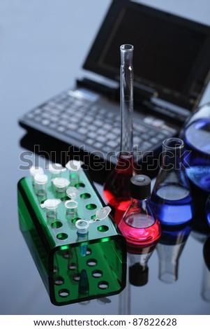 laboratories equipment - stock photo