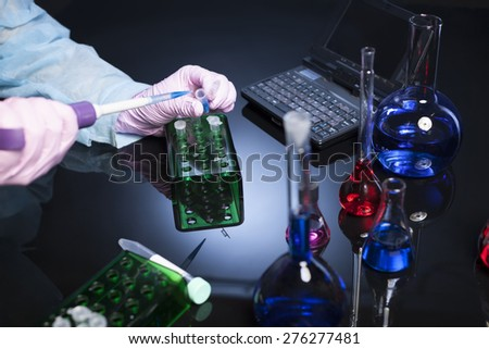 laboratories experiment - stock photo