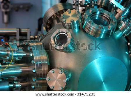 Laboratory abstract - Ultra High Vacuum equipment - stock photo