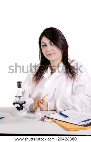 Laboratory assistant - stock photo