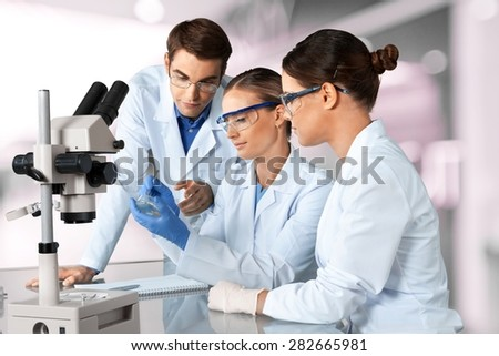 Laboratory, Biotechnology, Research. - stock photo