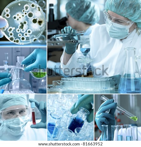 Laboratory Collage - stock photo