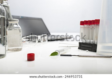 laboratory equipment for research - stock photo