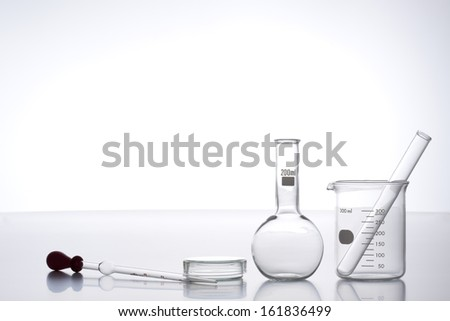 Laboratory equipment isolated on white - stock photo