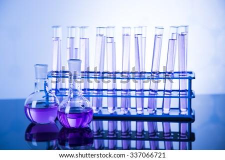 Laboratory glass, Chemistry science concept - stock photo