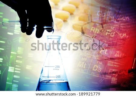 Laboratory glass. Laboratory concept.  - stock photo