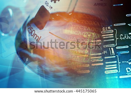 Laboratory glass. Laboratory concept. - stock photo