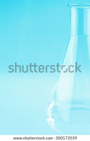 Laboratory glassware in soft style for background