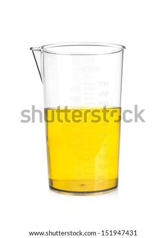 laboratory glassware isolated on white background  - stock photo