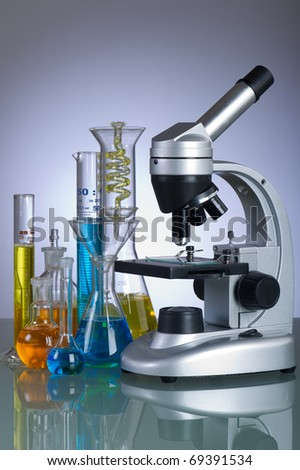 laboratory instruments - stock photo