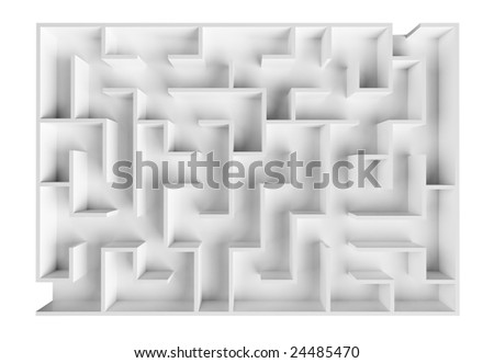 Laboratory labyrinth to examine behavior and intellect of rodents - stock photo