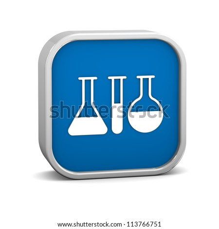 Laboratory sign on a white background. Part of a series. - stock photo